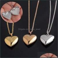 Necklaces & Pendants Jewelryromantic Heart Shaped Friend Picture Frame Locket Pendant Necklace Stainless Steel Love Jewelry Couple Valentine