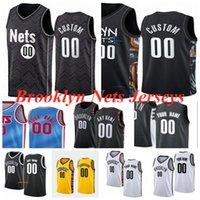 "Brooklyn ""redes"" jerseys de basquete Kevin 7 Durant 11 Irving 2 Griffin 8 Dinwiddie 12 Harris 22 Levert 0 Nwaba 13 Harden Jersey Men Kid Youth S-3XL"