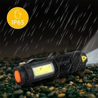 Flashlights Torches LED Mini Q5 Waterproof Tactical Zoom Rechargeable COB Torch Light 4 Modes Ultra Bright Camping Lantern