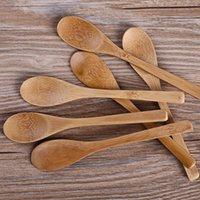 Bamboe Lepels Tea-Leaf Spice Kruiden Koffie Honing Meten Lepel 16 * 3 en 9 * 4.2cm Japanse stijl Servies Wood theelepeltje Home La755