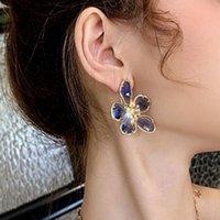 70%OFF New net red irregular crystal flower fairy Ring super flash temperament advanced Earring clip