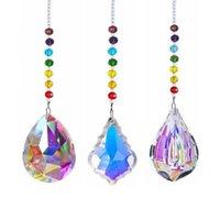 50mm 76mm Cristal Prisma Bola de Pendurar Corrente Colorido Beads Strand Projeto Arco-íris Janela Ornamento Casa Decorações Decoração de Jardim
