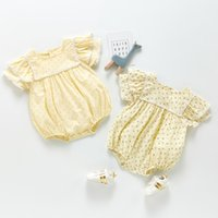 ZHBB INS Korean Australia Baby Girls Rompers Floral Newborn Jumpsuits Fashions Climb Cloths Bodysuits