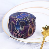 المعطرة شمعة جرة فارغة جولة الصفيح يمكن diy اليدوية شمعة الشاي الغذاء الحلوى اللوحي اكسسوارات تخزين مربع مع غطاء 648 S2