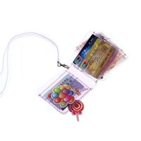 Card Holders 1Pc Fashion Jelly Bag Case Holder Transparent Coin Purse Women PVC Clear Ladies Short Glitter Wallet