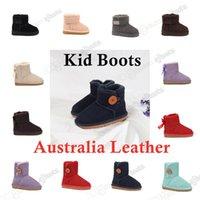 Çocuklar Çizmeler Yüksek Kalite Sıcak Satmak WGG UG UGGLIS Hakiki Deri Avustralya Kız Erkek Ayak Bileği Kış Boot Yay Ile Çocuk Ayakkabı Çocuklar Için Çocuk Sıcak Moda Sneakers Boyutu 21-35