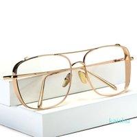 الرجال المرأة مصمم luxtury الذهبي الإطار واضح نظارات شمسية للرجال النساء الأشعة فوق البنفسجية 400 حماية نظارات الشمس