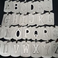 Silver Plated Stainless Steel 26 Letters Charms For Necklace Keychains Key Rings Alphabet Tag Pendant Fashion Jewelry Findings