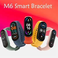 M6 Smart Bracelet Wristbands Fitness Tracker Real Heart Rate Blood Pressure Monitor Screen IP67 Waterproof Sport Watch For Android Cellphones VS M3 M4 M5 ID115 Plus