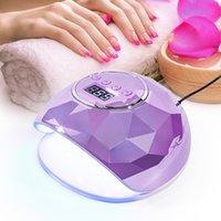 78W UV 램프 네일 드라이어 다채로운 거울 다이아몬드 네일 램프 프로 UV 39LEDS 매니큐어 타이머 LCD 디스플레이를위한 네일 젤 빠른 건조 장치