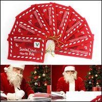Fiesta de felicitación Fiesta festiva Suministros de fiesta Home GardenGreeting Tarjetas de Navidad Postal de Navidad Carta Bolsa de caramelo Bordado Decoración Ornamento Santa C