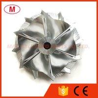 GT15-25 702549-0019 / 702549-0010 42.87 / 59.48mm 6 + 6 Klingen Leistung Turbochrager Aluminium / Fräsen / Turbo Billet-Kompressor-Rad für IVECO 1102-022-404 702989-0003 / 0006