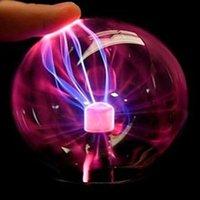 CRISTAL PLASMA BOLA DE LUZ DE LA LUZ BOLAS DE INDUCCIÓN ELECTRÓTICA LED LIGHTS USB POWER BATERÍA DE LA BATERÍA Decoración de la fiesta de los niños Regalo
