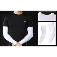 Elbow & Knee Pads Cycling Running Skating Arm Warmers Ice Silk Cooling Sleeves Summer Covers Arms Sun UV Protection Sports Safety Compressio