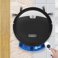 Aspirateurs Réservoir d'eau Robot Nettoyant Nettoyant sans fil Minuterie Système de télécommande humide et séchée Sweeper Feuillette