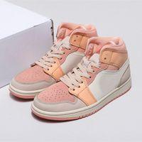 Абрикос оранжевый женский тапок 1 середина розовых кварцевых туфлей белая краска капельки кататься на коньках кроссовки едва баскетбол