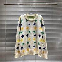 2021 зимний вязаный мужской свитер оптом дизайнер капюшон цвет пятиконечная звезда мода шерстяная свирена женщина женщина повседневная теплый трикотаж