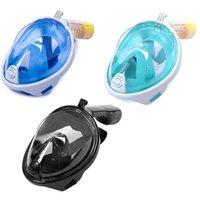 Subaquático Máscara de Natação Máscara Full Face Anti-Névoa Snorkeling Seco Submersível Mergulho Impermeável Óculos de Equipamento de Óculos