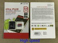 Высокое качество Новый Ультра A1 16GB / 32GB / 64GB / 128GB / 256GB / 128GB / 256GB Фактическая емкость Micro Memory SD-карта 100 МБ / с UHS-I C10 TF Card с адаптером