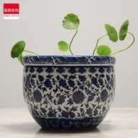 Special Offer Of Jingdezhen Ceramics Chinese Gardening Creative Personality Blue And White Narcissus Grass Hydroponic Flowerp Vases