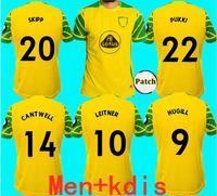 21 22 Norwich 2021 Città Jursell Soccer Jerseys Home Kit Kit Kit Roberts Pukki Hernandez Buenderia Stiepermann Jersey Camicie da calcio Giallo 20 Skipp Cantwell