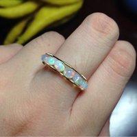 Oval Oval Opal Opal Lucky Octobre Birthstone Bague