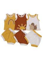 Clothing Sets CitgeeSummer Born Baby Girls Boys Clothes 0-24M Sun Pattern Printed Sleeveless Vest Tops Shorts