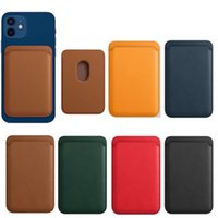 luxury Card Bag Magsafing Magnetic Leather Wallet Cards Pocker Holder For IPhone 12 Pro Max Mini Magsafe Case Smartphone