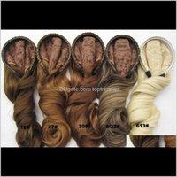 Produits synthétiques Drop Livraison 2021 ZiFan Synthetics Bandeaux Demi-Perruques pour cheveux afro-américains 22inch 3/4 look naturel sp0kt