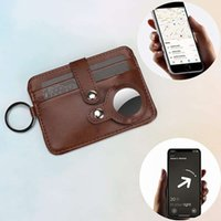 Card Holders airtag leather anti-theft swiping innovative carrying tracker protective case buckle card bag