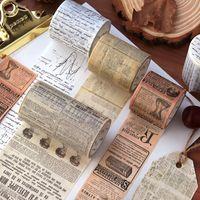 Revista Retro Washi Tape Vintage Decoración gótica Scrapbooking Masking Cinta adhesiva Diario Base Papelería decorativa 1253 V2