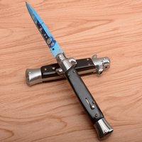 Samsend 10 polegadas Canal automático 9inch Tactical Folding Blade Facas EDC Auto Hunting Tool com Oxford Bag + Caixa de Cor