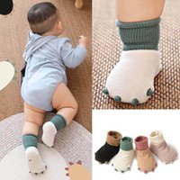 Newborn Socks Booties Baby Kids Girls Boys Accessories Children's Toddler Autumn Winter Coral Velvet Floor Cartoon Shoes Child Clothing B6211