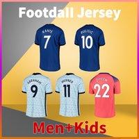 Pulisic Kante Ziyech Soccer Jersey 20 21 Werner T. Silva Havertz Giroud Mount Football Shirt Men Tshirts + Kids Kit Oright