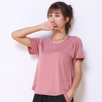 Yoga Outfit Size Sport Shirts Women Top Mesh Spliced Fitness Gym T-shirt Short Sleeve Quick Dry O-Neck Workout Running Clothes
