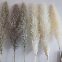 Flores decorativas grinaldas 140cm natural cultivo artificial pampas grama grande reed reed buquê decoração para casa decorati de casamento