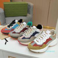 2021 مصمم حجر الريح حذاء رياضة أحذية الرجال النساء المدربين خمر الفاخرة chaussures السيدات الرياضة عارضة الأحذية المصممين عداء حذاء مع مربع