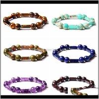 Brosses bracelets de bijoux design naturel tigre naturel perles de pierre bracelet hommes 8mm yoga yoga guérison amethystes lapis lazuli perlé charme pour wo