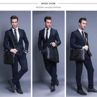 VORMOR Promotion Simple Famous Brand Business Men Briefcase Bag Luxury Leather Laptop Bag Man Shoulder Bag bolsa maleta 200918