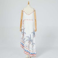 beach party straps with casual positioning print dress