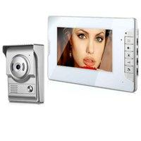 Inch Video Door Phone Doorbell Intercom System With Night Vision Camera 1000TVL Unlock Talk Phones