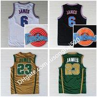 NCAA St. Vincent Mary 고등학교 아일랜드어 6 23 제임스 유니폼 농구 셔츠 조정 팀 Toones Tunesquad 공간 잼 녹색 흰색