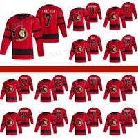 Ottawa Senadores Jersey 2021 Retro Retro 7 Brady Tkachuk 30 Matt Murray71 Chris Tierney 18 Tim Stützle Hockey Jerseys