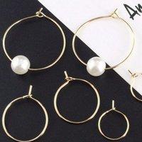 20 pcs ouro 316L aço inoxidável redondo aro círculo círculo gancho clasps fio hipoalergênico fio para DIY Jóias descobertas 1683 Q2