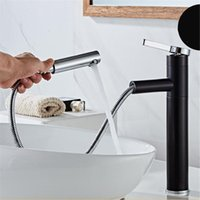 Bathroom Kitchen Basin Faucet Single Handle Pull Out Spray S...