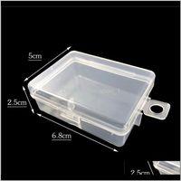박스 쓰레기통 부품에 대 한 맑은 작은 플라스틱 뚜껑이있는 작은 플라스틱 쥬얼리 디스플레이 박스 나사 케이스 비즈 컨테이너 CT0338 Exjro Qee3T