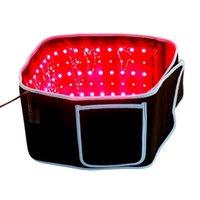 스톡 미국 슬리밍 웨이스트 벨트 붉은 빛 적외선 치료 벨트 통증 완화 LLLT 지방 분해 바디 쉐이핑 조각 660nm 850nm lipo 레이저