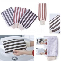 Bath Scrubbers Hammam Scrubbing Glove Double Deck Exfoliating Gloves Morocco Towel Treatment Scrub Exfoliator Mitt Magic Peeling Tan Remove Dead Skin DD520