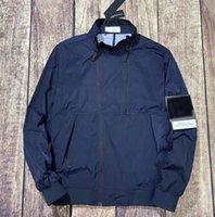 Les hommes à capuche à capuche à capuche à capuche serre-vent zipper sweats à capuche patchwork vestes pierre courante sport sweat à capuche jogger île décontractée manteau e2a015