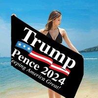 Hızlı Kuru Febrik Banyo Plaj Havlusu Başkan Trump Havlu ABD Bayrağı Baskı Mat Kum Battaniye Seyahat Duş Yüzme